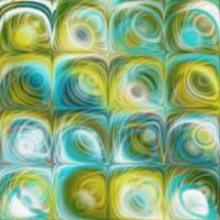 Circles and Squares 45. Green And Blue Art