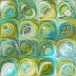 """Circles and Squares 46. Green and Blue Art"" by MarkLawrence"