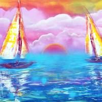 Cotton Candy Cove Art Prints & Posters by Laura Barbosa