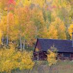 """Colorado Autumn Cabin"" by Santomarco"