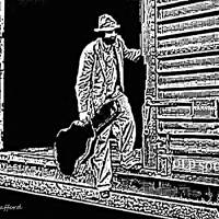Freight Train Blues Art Prints & Posters by Dave Gafford