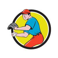 Baseball Player OutFielder Throwing Ball Circle Ca