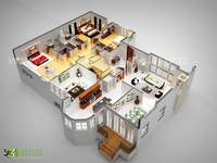 luxurious Residential 3D Floor Plan