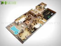 Holiday Homes 3D Floor Plan