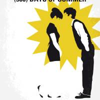 No500 My 500 Days Of Summer minimal movie poster Art Prints & Posters by Chungkong Art
