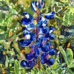 """""""Blue in Bloom"""" by HaileyWatermedia"""