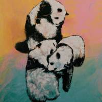 Panda Street Fight Art Prints & Posters by Michael Creese