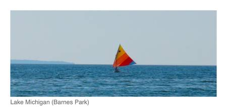 Sailing on Lake Michigan (Barnes Park) 2