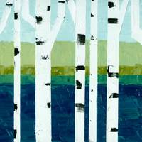 Beach Birches Pano Art Prints & Posters by Michelle Calkins