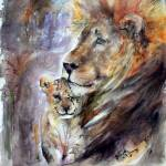"""Cecil the Lion and Patriarch"" by GinetteCallaway"