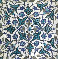 A Damascus pottery tile, Syria, circa 17th century