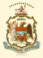 Arkansas state coat of arms (illustrated, 1876)