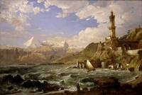 Jasper Francis Cropsey - The Coast of Genoa