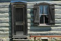 Door and Window in a Log Cabin
