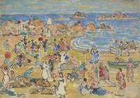 MAURICE BRAZIL PRENDERGAST 1858 - 1924, The beach