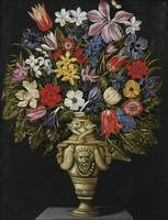 MASTER OF THE GROTESQUE VASE ; STILL LIFE WITH FLO