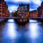 """Water Castle of Hamburg at Night"" by George_Oze"