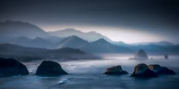 Mist Among the Sea Stacks
