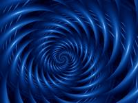 Electric Blue Spiral Fractal