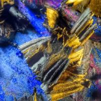 Super Macro Oil Pastel Abstract 3812, Edit D Art Prints & Posters by Nawfal Johnson Nur