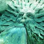 """barcaccia fountain sun symbol"" by gbensonart"