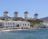Four Windmills in Mykonos