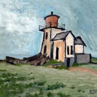Ghost Lighthouse Art Prints & Posters by Robert Holewinski