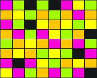 Brightly Neon Colored Squares Pattern