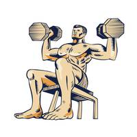 High Intensity Interval Training Dumbbell Etching