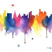 Chicago Skyline Art Prints & Posters by David Rogers