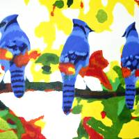 Autumn Blue Jays Art Prints & Posters by Sam Lee