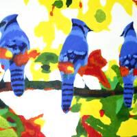 Autumn Blue Jays Art Prints & Posters by Sam Lee