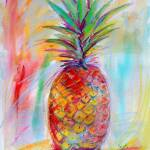 """Aloha Pineapple Mixed Media Art Ginette"" by GinetteCallaway"