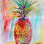 """Aloha Pineapple Mixed Media Art Ginette"" by GinetteCallaway"