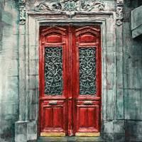 Parisian Door No.33 Art Prints & Posters by Joey Agbayani