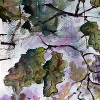 Oak Leaves Modern Watercolor
