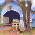 """""""Covered Bridge In Watercolor"""" by Kirtdtisdale"""