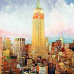 """Manhattan Dawn New York City"" by BeaconArtWorksCorporation"