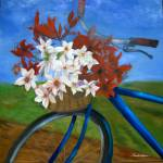 """Bicycle Flower Basket"" by BrendaSalyersArt"