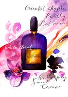 Perfume illustration - Black orchid