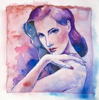 Classic beauty - watercolor art