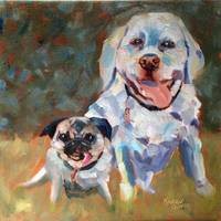 7 July 2014 Midge and Randal Oil on canvas  12x12