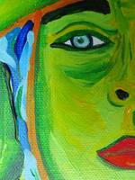 A River Runs Through Her - detail, eye, lips