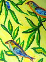 A River Runs Through Her - detail, bird 4