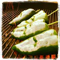 Poblanos on the Grill