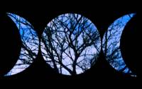 Blue Triple Goddess Symbol