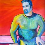 """Velvet Jesús Portrait of a Latino Man"" by BeaconArtWorksCorporation"