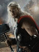 God Of Thunder Mosaic