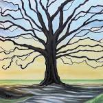 """The Stained Old Oak Tree"" by ElizaArt"