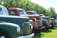 Antique Trucks in a Row